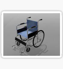 Wheelchair illustration. Sticker