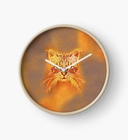 Golden Cat #Art Clock