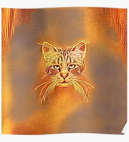 Golden Cat #Art Poster