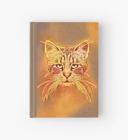 Golden Cat #Art Hardcover Journal