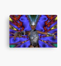 Silver Warrior Canvas Print
