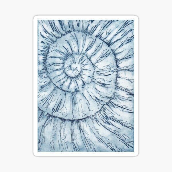 Ammonite no.34 - 100 ammonite project Sticker