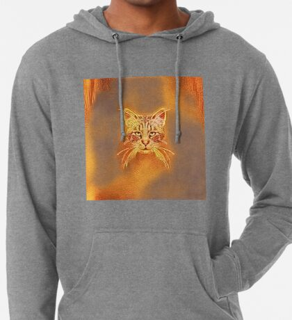 Golden Cat #Art Lightweight Hoodie
