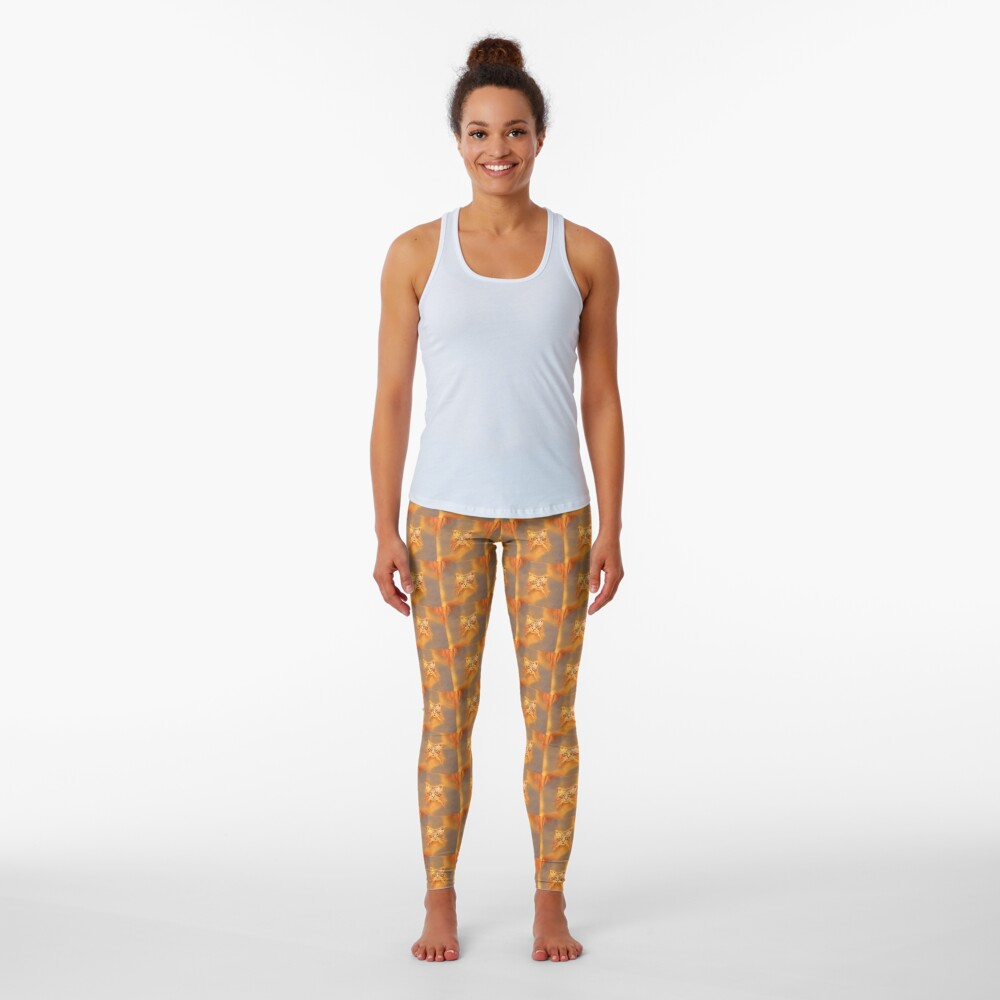 Golden Cat #Art Leggings
