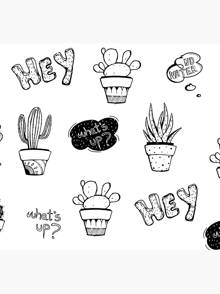 Funky Cactus Pattern by mirunasfia