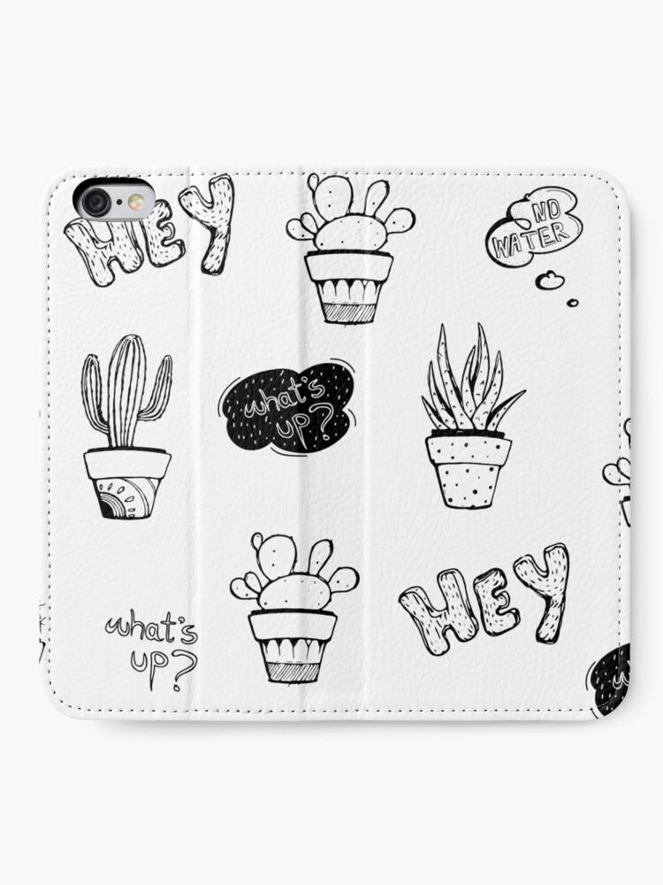 Alternate view of Funky Cactus Pattern iPhone Wallet