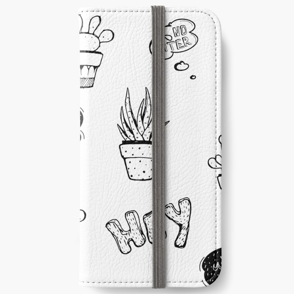 Funky Cactus Pattern iPhone Wallet