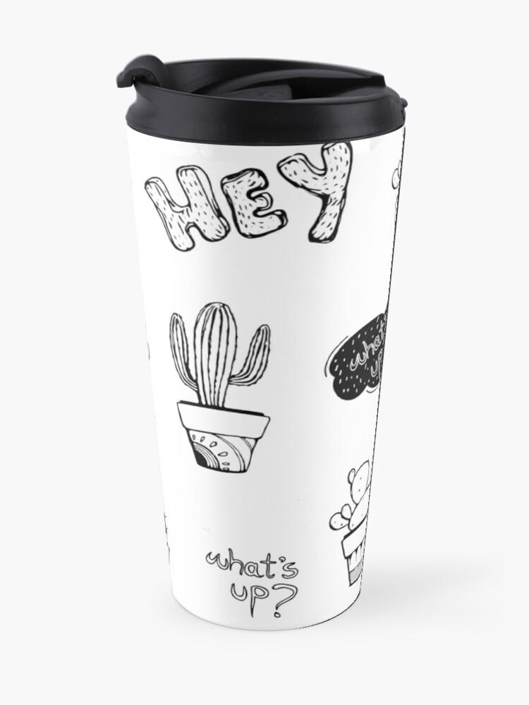 Alternate view of Funky Cactus Pattern Travel Mug