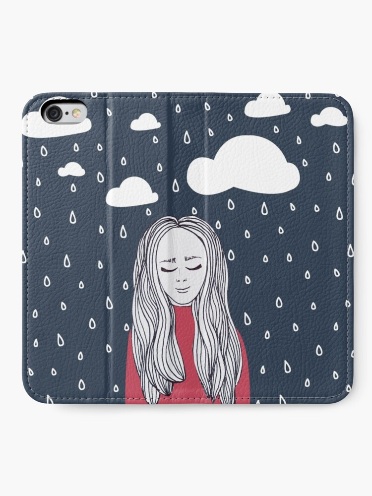 Alternate view of Happy girl in the rain iPhone Wallet