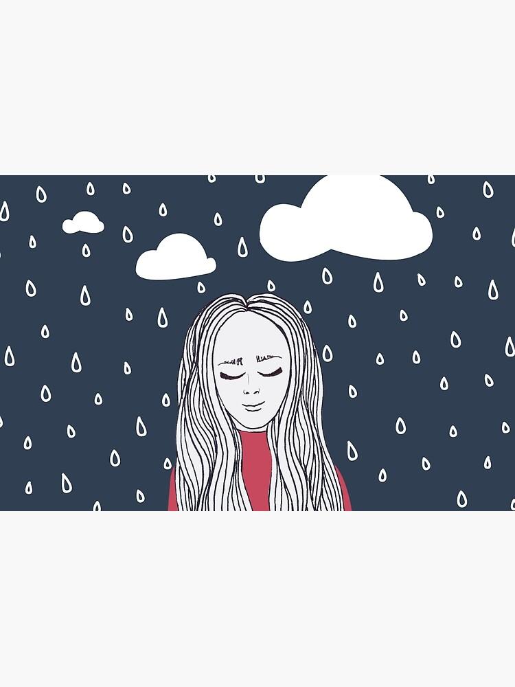 Happy girl in the rain by mirunasfia