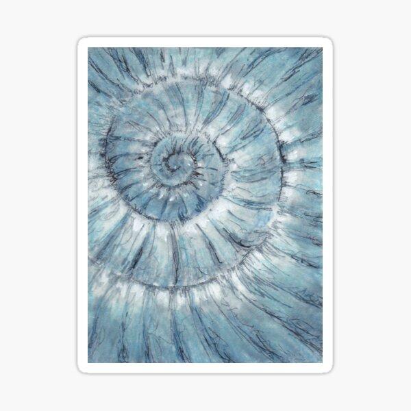 Ammonite no.90 - 100 ammonites project Sticker