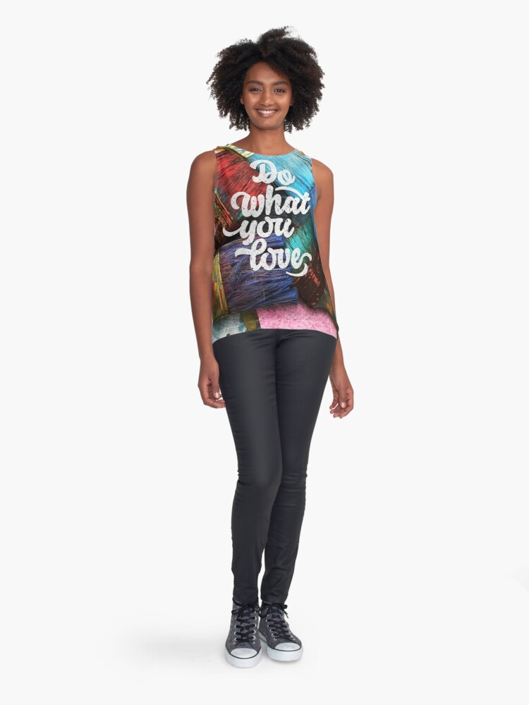 Alternate view of Do what you love Sleeveless Top