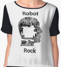 Robot Rock Chiffon Top