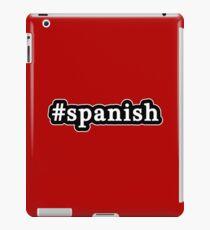 Spanish - Hashtag - Black & White iPad Case/Skin