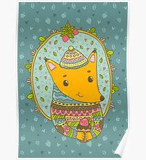 Winter fox Poster