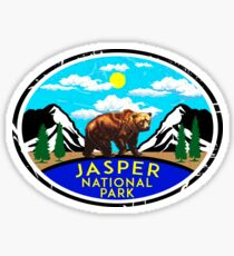 JASPER NATIONAL PARK ALBERTA CANADA Skiing Ski Mountain Mountains Snowboard Boating Hiking 2 Sticker