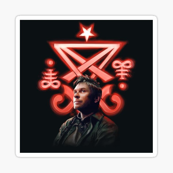 Lucifer Supernatural Digital Painting Sticker