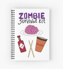 Zombie survival kit Spiral Notebook