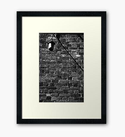Alley Light Framed Print