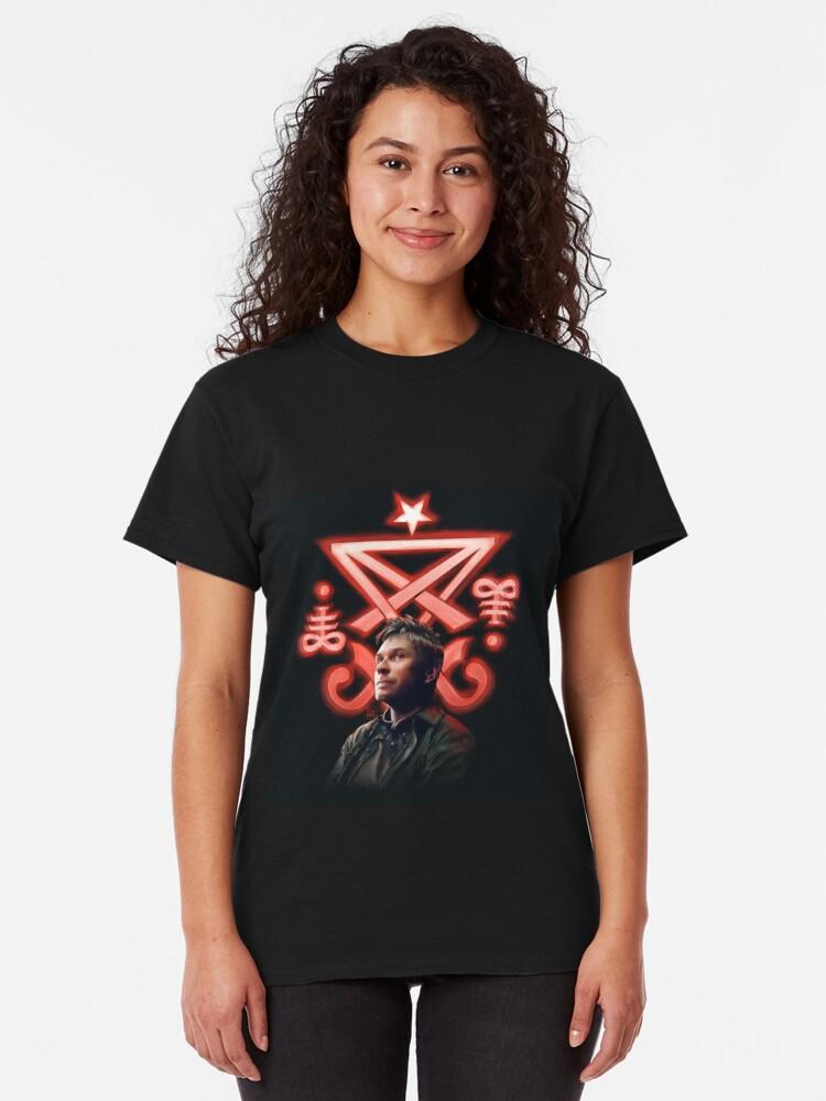Alternate view of Lucifer Supernatural Digital Painting Classic T-Shirt