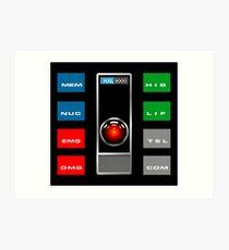 HAL 9000 - CONTROL SCREENS Art Print