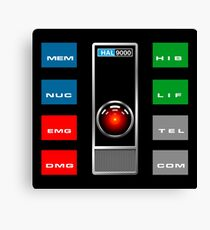 HAL 9000 - CONTROL SCREENS Canvas Print