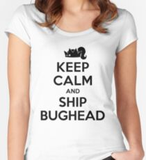 Riverdale - Keep Calm And Ship Bughead Women's Fitted Scoop T-Shirt