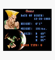 Guile Stats Photographic Print
