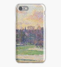 Camille Pissarro - Flood At Sunset iPhone Case/Skin