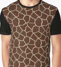 Realistic Giraffe Animal Skin Pattern Graphic T-Shirt