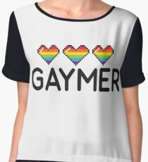 Gaymer Funny Rainbow LGBT Pride Video Game Lives Chiffon Top