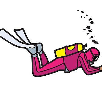 Pink Diver - Trim & Position by trebordesign