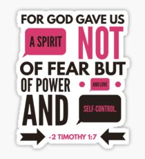 2 Timothy 1:7 Bible Verse Sticker