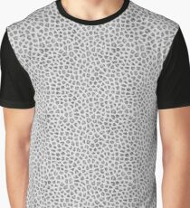 Realistic Snow Leopard Animal Skin Pattern Graphic T-Shirt