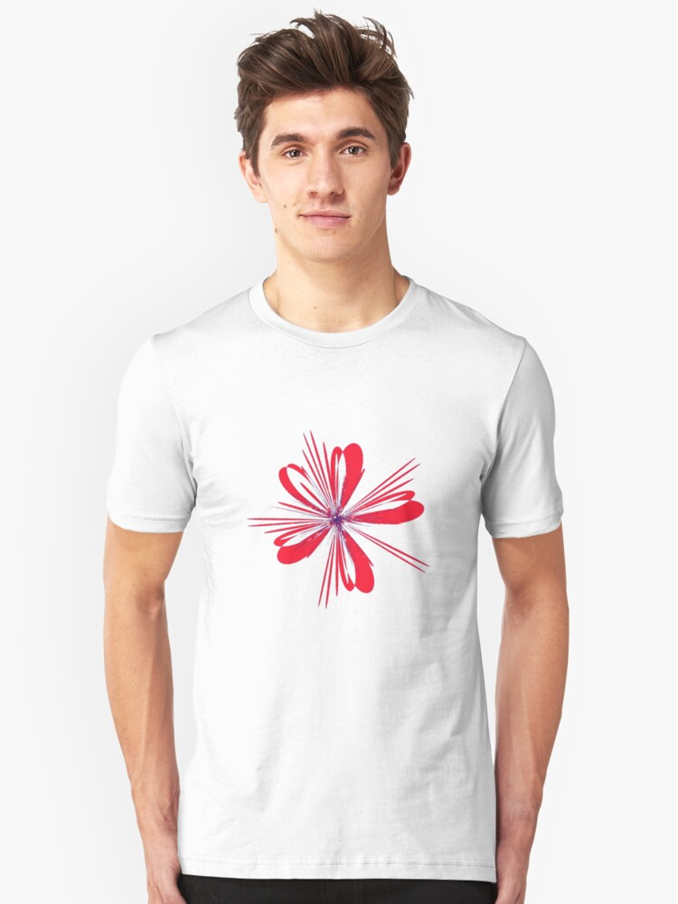 Red Ribbon Unisex T-Shirt Front