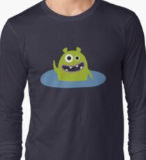 Mr. Green and the pool Long Sleeve T-Shirt