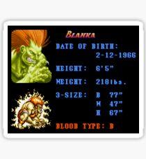 Blanka Stats  Sticker