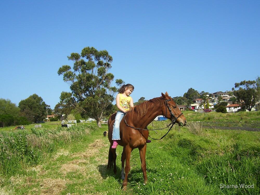 Bareback ride by Sharna Wood