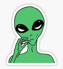 Kush Alien Sticker