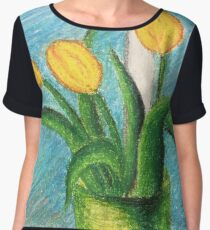 Tulips Women's Chiffon Top