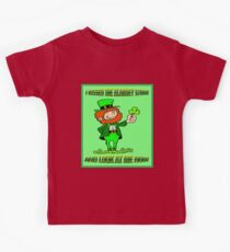 ST. PATRICKS DAY; I Kissed the Blarney Stone Kids Tee