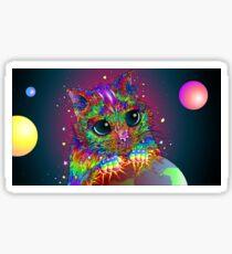 Trippy cat Sticker