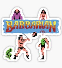 Gaming [C64] - Barbarian Sticker