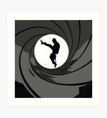 Monty Python Silly Walk 007 Mashup Art Print