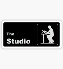 The Studio - Office Themed Logo Sticker