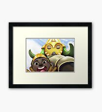 Here to Help! Framed Print