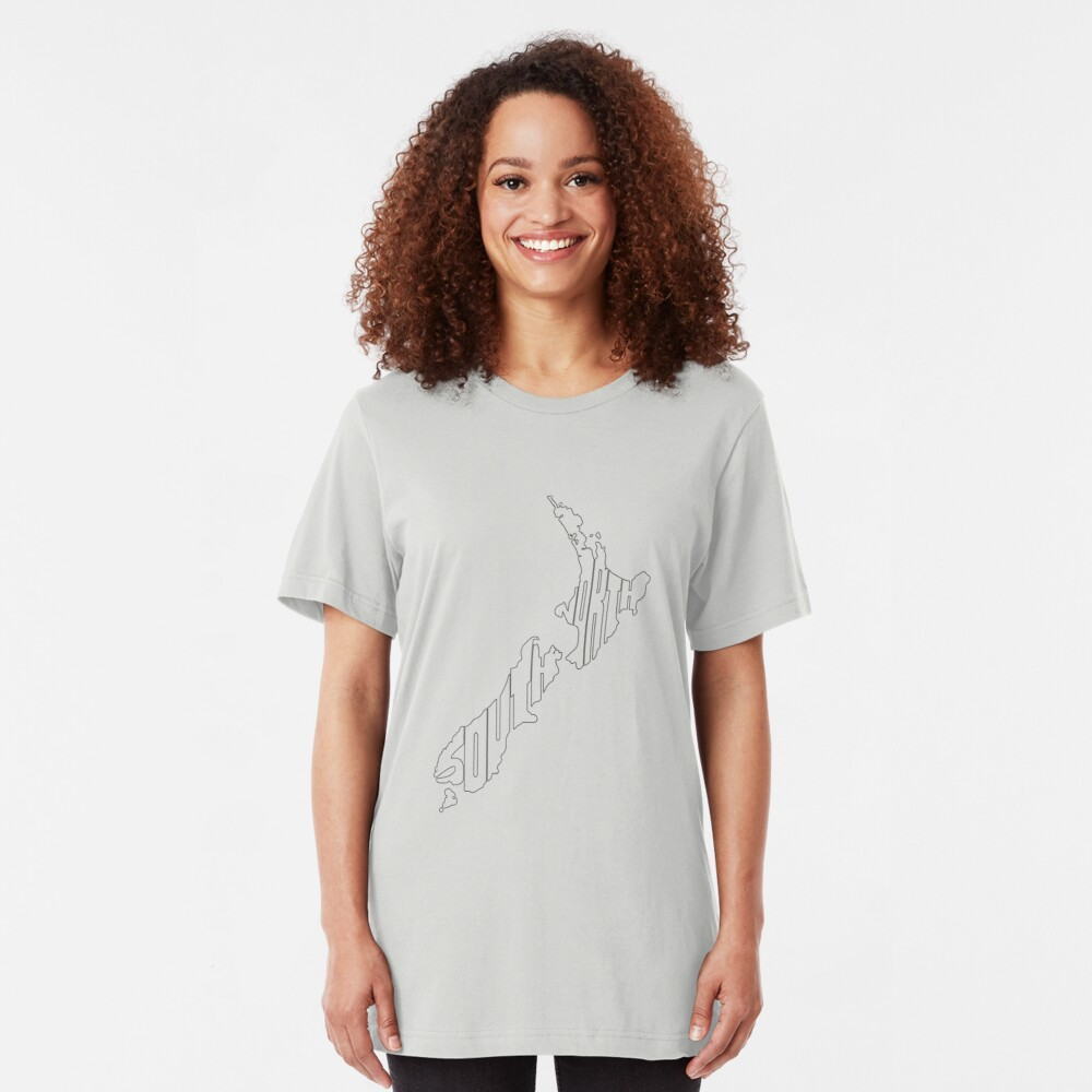 North and South Slim Fit T-Shirt