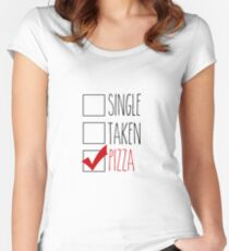 in a relationship with pizza  Women's Fitted Scoop T-Shirt