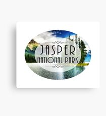 JASPER NATIONAL PARK ALBERTA CANADA Skiing Ski Mountain Mountains Snowboard Boating Hiking 2 Canvas Print