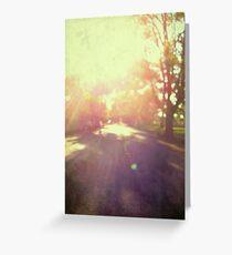 toward spring sun Greeting Card